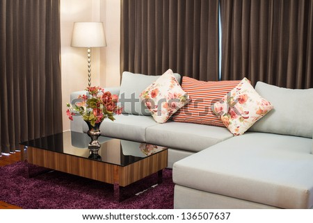 Sofa in the living room - stock photo