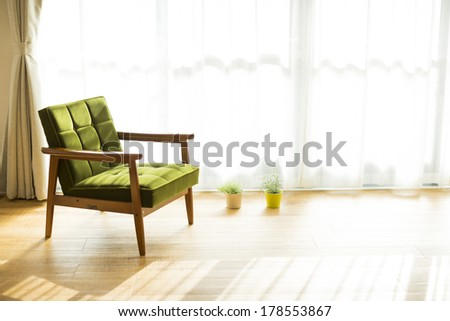 Sofa in the room - stock photo