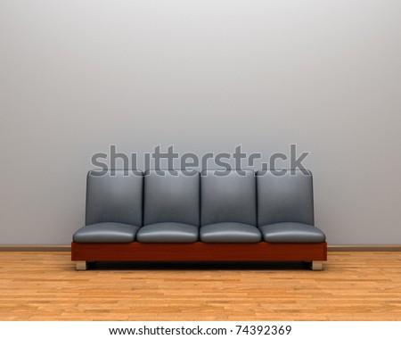 sofa in the room - stock photo