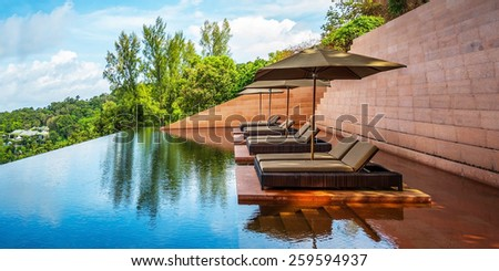 Sofa in the water - stock photo