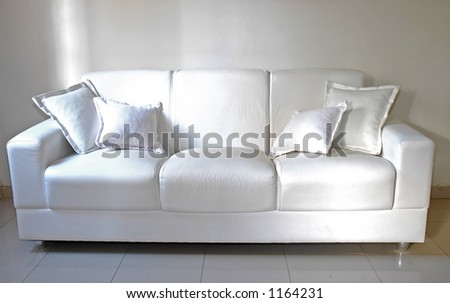 Sofa - Interiors - stock photo
