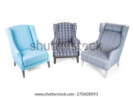 Sofa isolated on white - stock photo