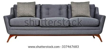 Sofa isolated on white background - stock photo