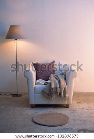 Sofa with Lamp - stock photo
