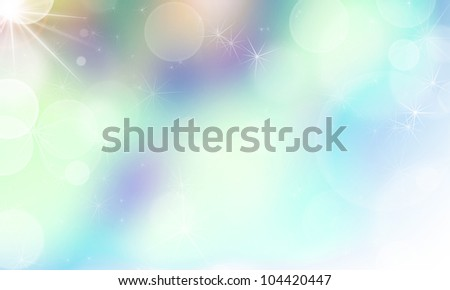 soft abstract background with lights bokeh and stars - stock photo