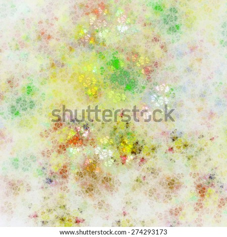 Soft abstract fractal texture, digital artwork for creative graphic design - stock photo