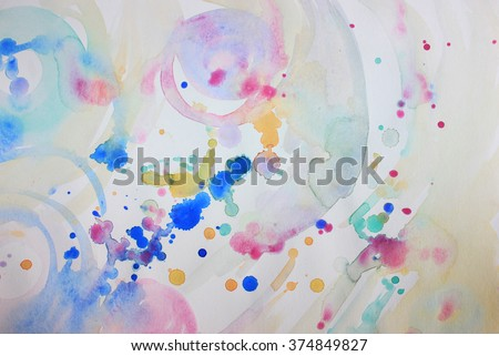 Soft background or Creative art background, Wake up, Spring background, Art therapy, Colorful dots, Happy day, Be happy, Be free, Art school, Create, Creative, Cover background, Cover design, Artwork - stock photo