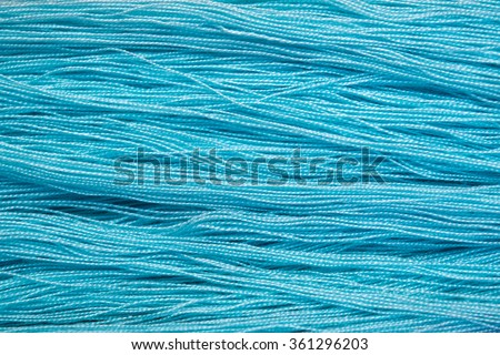 Soft blue cotton thread for abstract background - stock photo