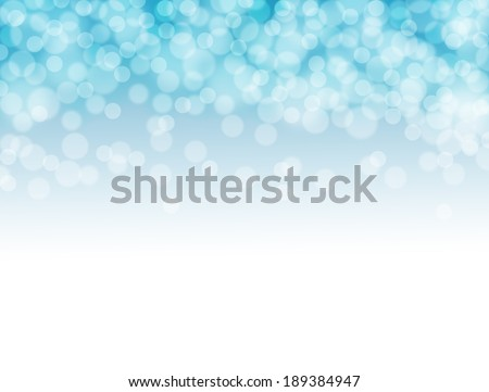 Soft blurred bokeh blue background. - stock photo
