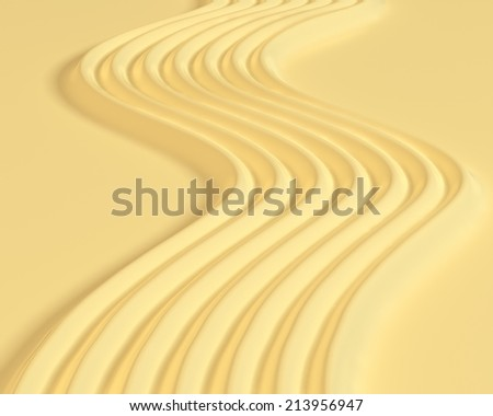 Soft butter waves background - stock photo