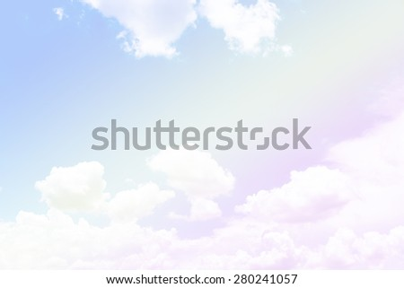 soft cloud background with a pastel multicolor gradient - stock photo