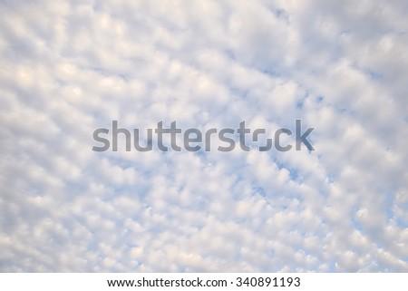 soft  cloud on blue sky - stock photo