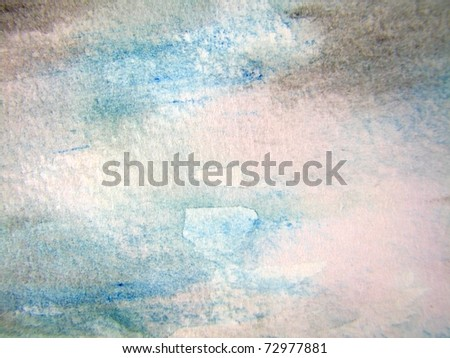 Soft Colored Watercolor 1 - stock photo