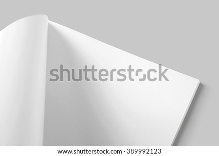 soft cover brochure mock up - stock photo