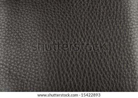 soft dark brown leather texture - stock photo