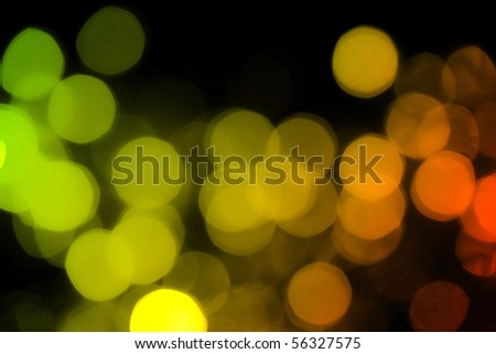 Soft de-focused red, yellow, orange lights background - stock photo