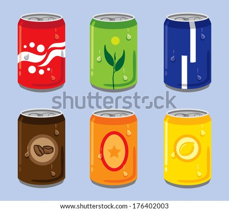Soft Drink Cans - stock photo