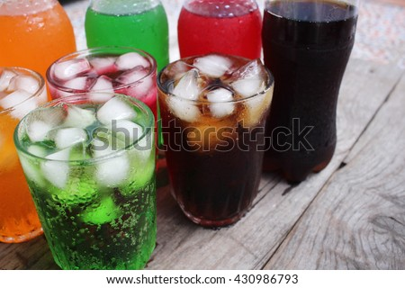 Soft drinks - stock photo