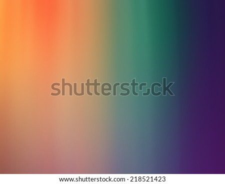soft gradient color background of orange peach teal blue and purple in faded blended stripe design - stock photo