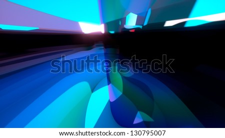Soft green abstract art 3d background - stock photo