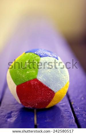 soft multi-colored ball - stock photo