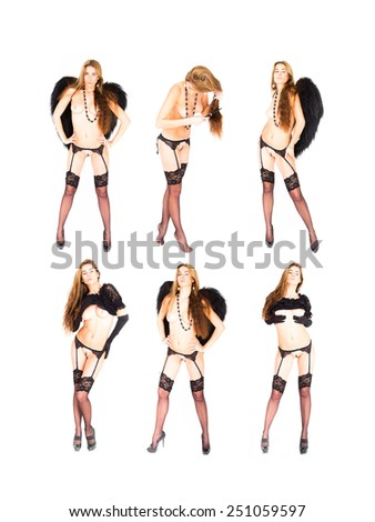 Soft Nudity Isolated Group  - stock photo