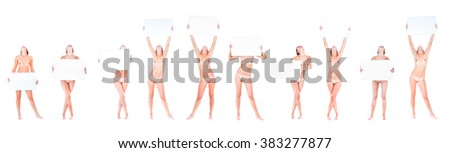 Soft Nudity Nude Models  - stock photo
