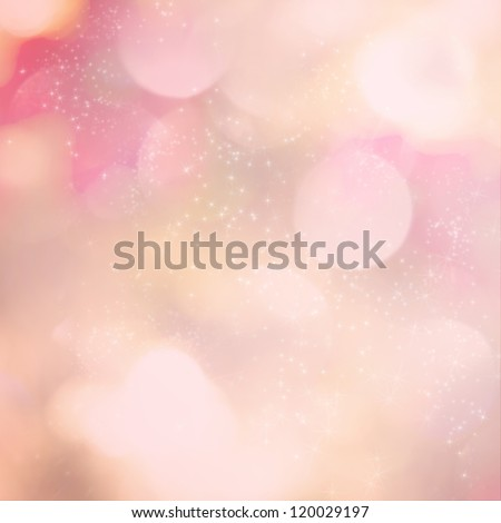 Soft pink light abstract background with sparkling white stars. - stock photo