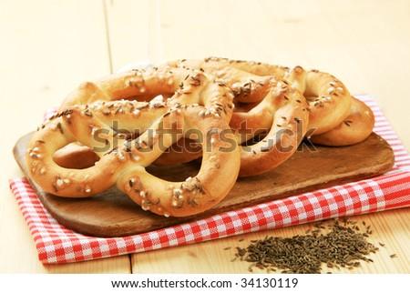 Soft pretzels - stock photo