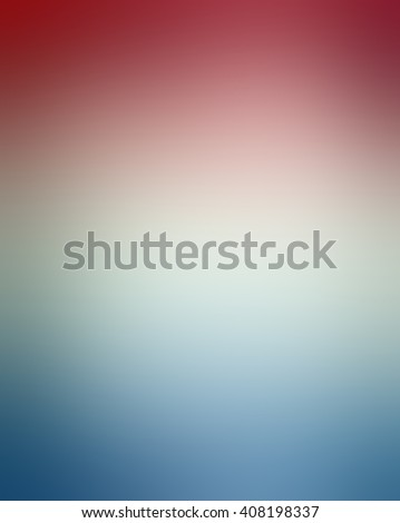 soft red white and blue background blur, for July 4th, memorial day, election voting day or other USA patriotic holiday designs - stock photo
