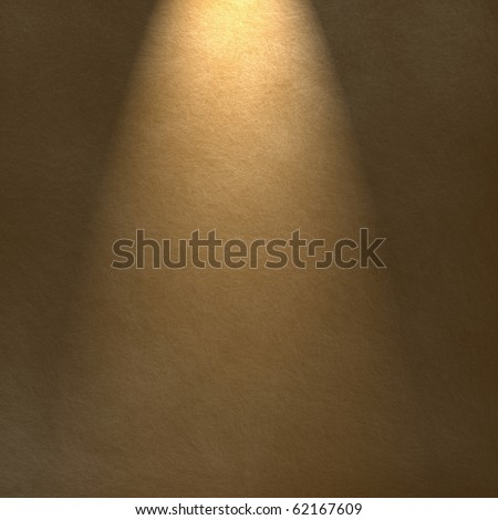 soft suede brown background with warm spotlight or highlight for copy space - stock photo
