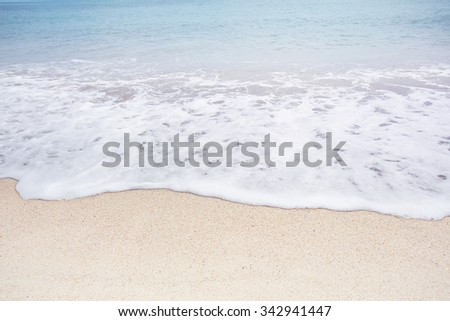 Soft wave of the sea on the sandy beach,  koh samui - Thailand - stock photo