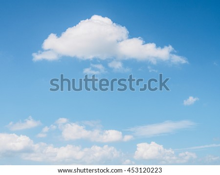 Softness cloud on blue sky of natural - stock photo