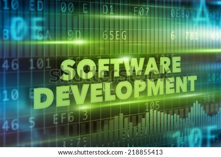 Software development concept - stock photo