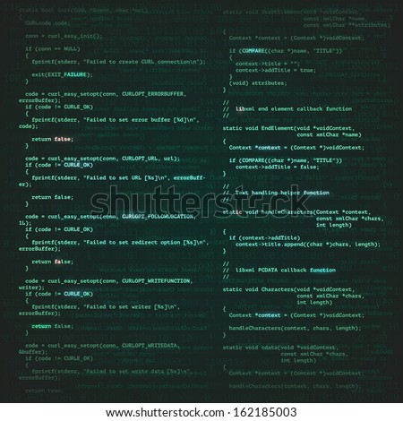 Software engineering technology background concept illustration.  - stock photo