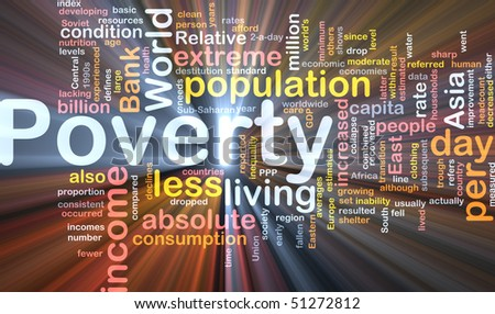 Software package box Word cloud concept illustration of income poverty - stock photo