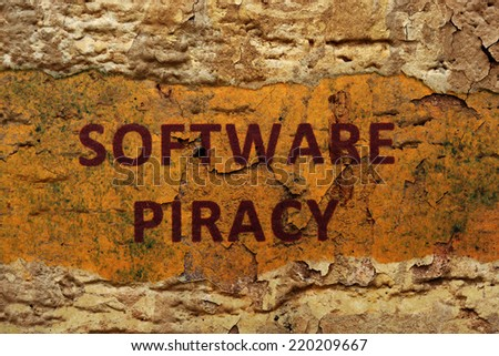 Software piracy - stock photo