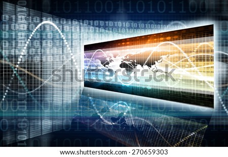 Software Security in Technology System Data Art - stock photo