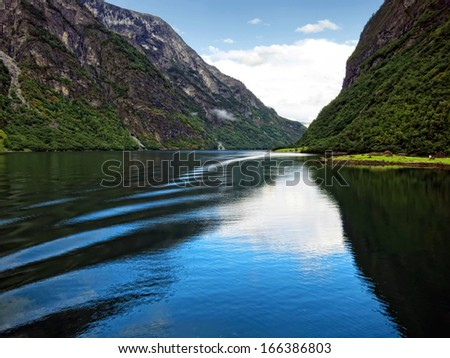 Sogne fjord, Norway - stock photo
