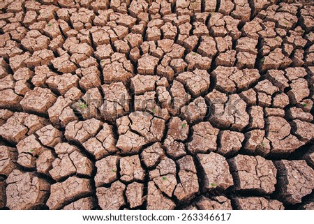 soil arid , season water shortage - stock photo