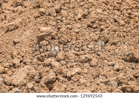 Soil background with clay and sand  components - stock photo