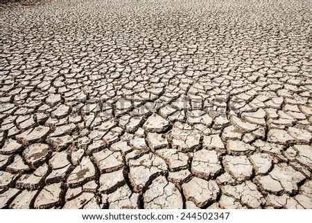 soil break with hot summer season - stock photo
