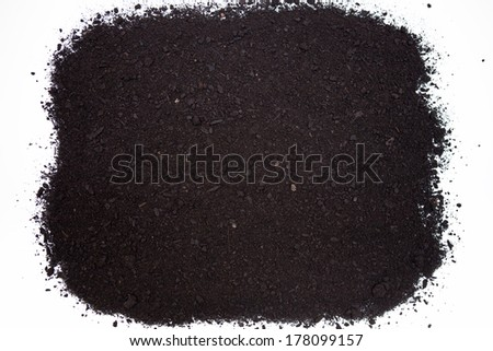 soil, dirt isolated on white background - stock photo