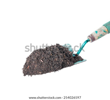 Soil on  Gardening Tools - stock photo