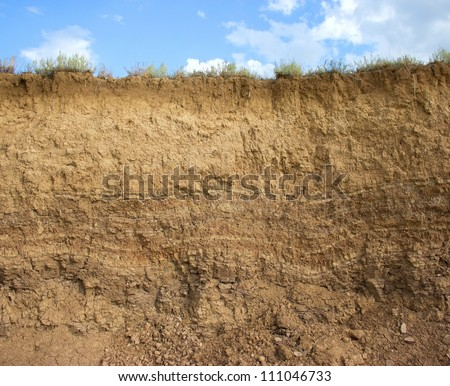 Soil structure - stock photo