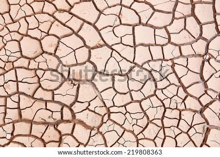 Soil texture, crack background - stock photo