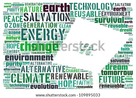 Solar as renewable energy: text graphics - stock photo