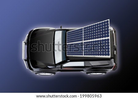 Solar car - stock photo