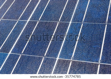 Solar cell array - stock photo