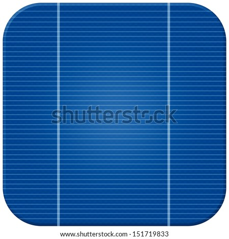 solar cell isolate with clipping path - stock photo
